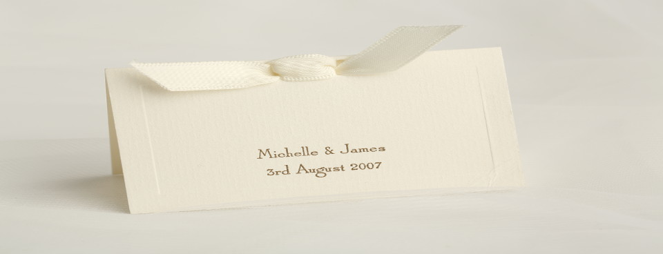 Place Card With Bow