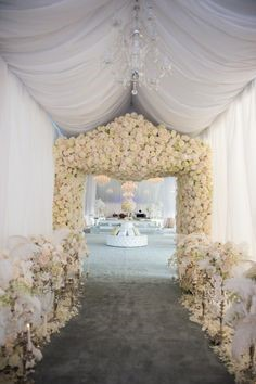 winter wedding hall