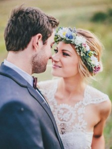 floral wedding crown