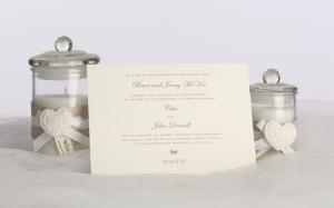 Stylish wedding invite